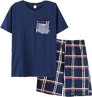Big Boys Pajamas Classic Plaid Cotton Sleepwear Shorts Teens PJS Size 10 12 14 16