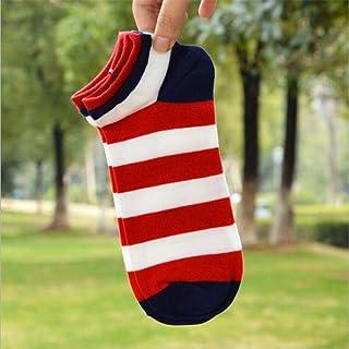 Calcetines De Hombre Calcetines Hombres Algodón Primavera Verano Y Otoño Calcetines A Rayas Calcetines Cortos Coloridos para Hombres Y Hombres