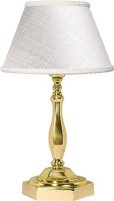 Premium Lampe de table plaqué or 24carats avec lampes E1460W 230V, or et nuit lampe de table chambre à coucher salon lampe éclairage intérieur lampe de table
