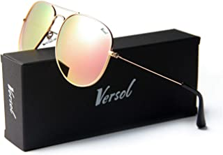 Versol Aviator Sunglasses for Men Women Polarized UV 400 Protection Classic Style Ultra Lightweight Driving Outdoor Activity