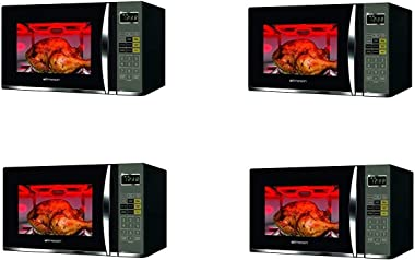 Emerson 1.2 CU. FT. 1100W Griller Microwave Oven with Touch Control, Stainless Steel, MWG9115SB (Fоur Расk, Black & Stainless