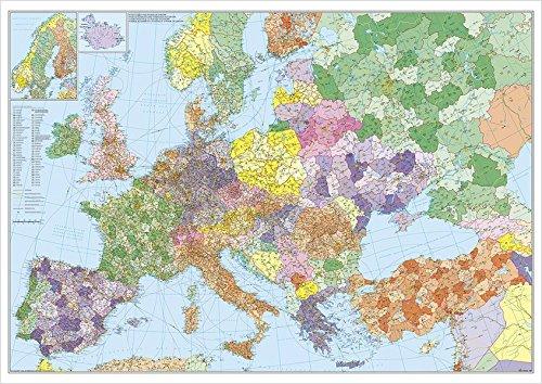 Europa mit Türkei - Straßen und Postleitzahlen