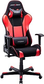 DXRacer USA Formula Series OH/FD101/NR Gaming Chair Computer Chair Office Chair Ergonomic Design Swivel Tilt Recline Adjustable with Tilt Lock, Includes Headrest Pillow and Lumbar Cushion (Red)