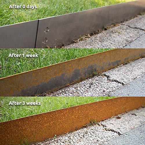 Multi-Edge Bordura metálica Acero Corten - Bordes/separadores para el jardín de Acero corten, 100 x 17,5 cm. A Partir de 5 Unidades. (13 Unidades): Amazon.es: Jardín