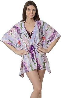 48e40604a8cbc Da Intimo Women's Women's Multicoloured Kaftan Printed Cover-Up Dress