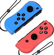 Hohhon JoyCon Controllers Replacement for Nintendo Switch, L-R Wireless Gamepad as Alternative to NS Joy Con Controllers, Switch Remote Controller with Wrist Straps and Charging Cable, Red/Blue