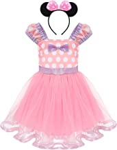 IWEMEK Toddler Girl Polka Dots Cosplay Birthday Princess Tutu Dress Up Fancy Christmas Ballet Leotard Costume with Headband