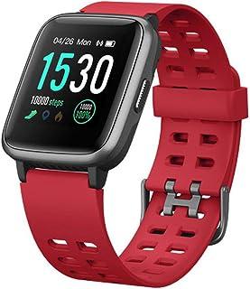CWBB Relojes Inteligentes, Bluetooth Resistente al Agua ID205 Pantalla táctil HD Reloj Inteligente Rastreador portátil Ritmo cardíaco Deportes 1.3 Pulgadas para Android iOS Reloj Inteligente