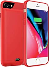 Battery Case for iPhone 6 / 6S, 3200mAh Portable Protective Charging Case Extended Rechargeable Battery Pack Charger Case Compatible with iPhone 7/8 Ultra-Thin - Red (4.7 inch)