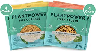 Outer Aisle Gourmet Cauliflower Sandwich Thins - Low Carb, Gluten Free, Paleo Friendly, Keto … (Pizza Sampler, Pack of 4)