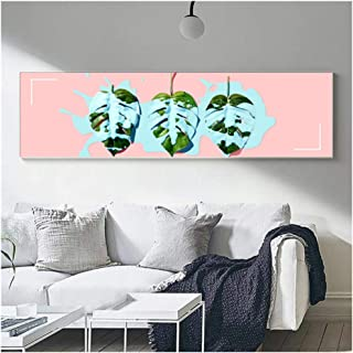 HYFBH Modern Art Wall Canvas Abstract Flower Planting Painting Canvas Painting for Living Room Wall Picture Decor-50x120cm No Frame