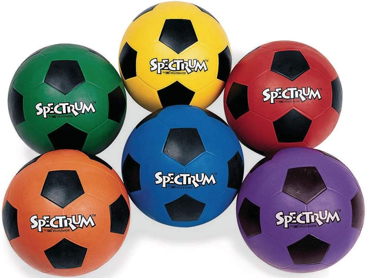 Spectrum Rubber Soccer Ball, Size 4-RED