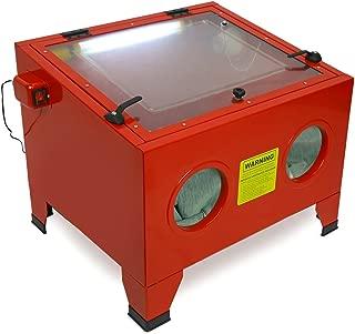 Stark 25 Gal Bench Top Sand Blaster Air Sandblast Cabinet Large Workbench Work Light Built-in -Red