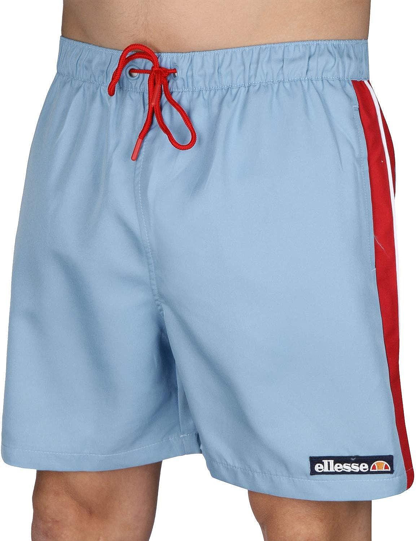 ellesse Heritage Mens Apiro Casual 90s Swimming Shorts Light Blue S