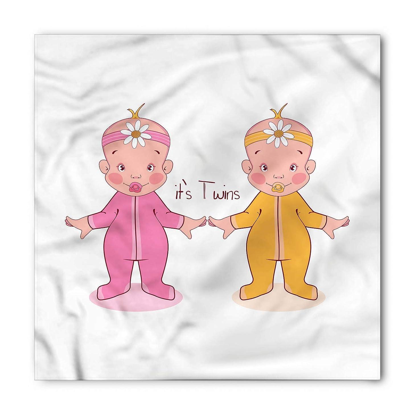 Baby Shower Bandana, Dancing Girls Its Twins, Unisex Head and Neck Tie