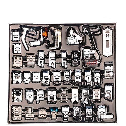 CCMART Pies profesionales de la máquina de coser 42pcs de la máquina de coser para Brother, cerradura del bebé, cantante, Elna, Toyota, nuevo hogar, simplicidad, Janome, Kenmore