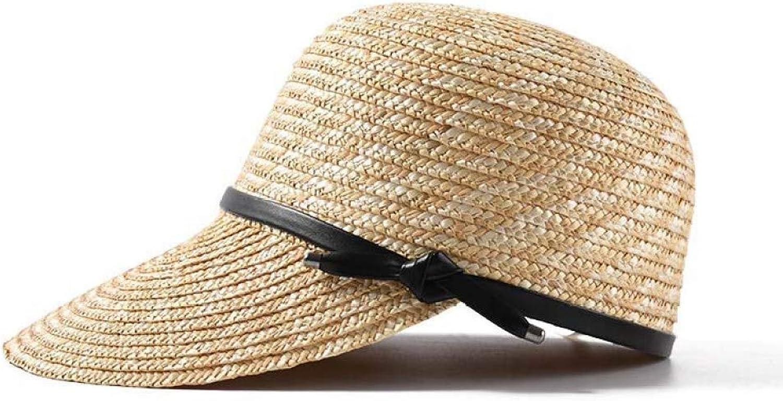 XDHRTS Fashion Summer Sun Hats for Women Boater Beach Cap Female Casual Lady Visor Classic Straw Baseball Cap Sun Predection