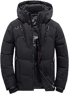 Goose Down Jacket Men Waterproof.Men Boys Casual Warm Hooded Winter Zipper Coat Outwear Jacket Top Blouse