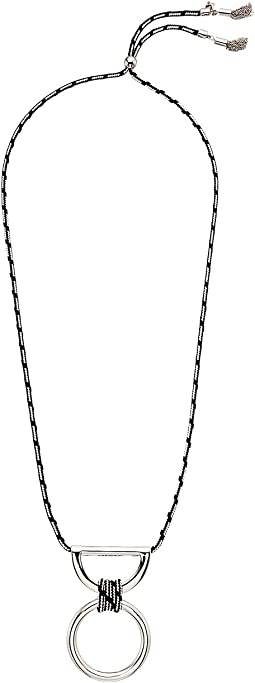 Rebecca Minkoff - Climbing Rope Pendant Necklace with Metal Drop