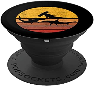 Vintage Sunset Trendy Silhouette Hammerhead Shark PopSockets Grip and Stand for Phones and Tablets