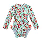 iEFiEL Little Baby Girls Long Sleeve Zip Sunsuit UPF 50+ One...