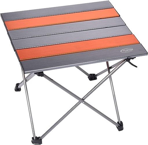 Table de Camping Pliante Portable et légère - Table compacte - Peut contenir jusqu'à 50 kg - pour Pique-Nique en extérieur et en intérieur - Randonnée