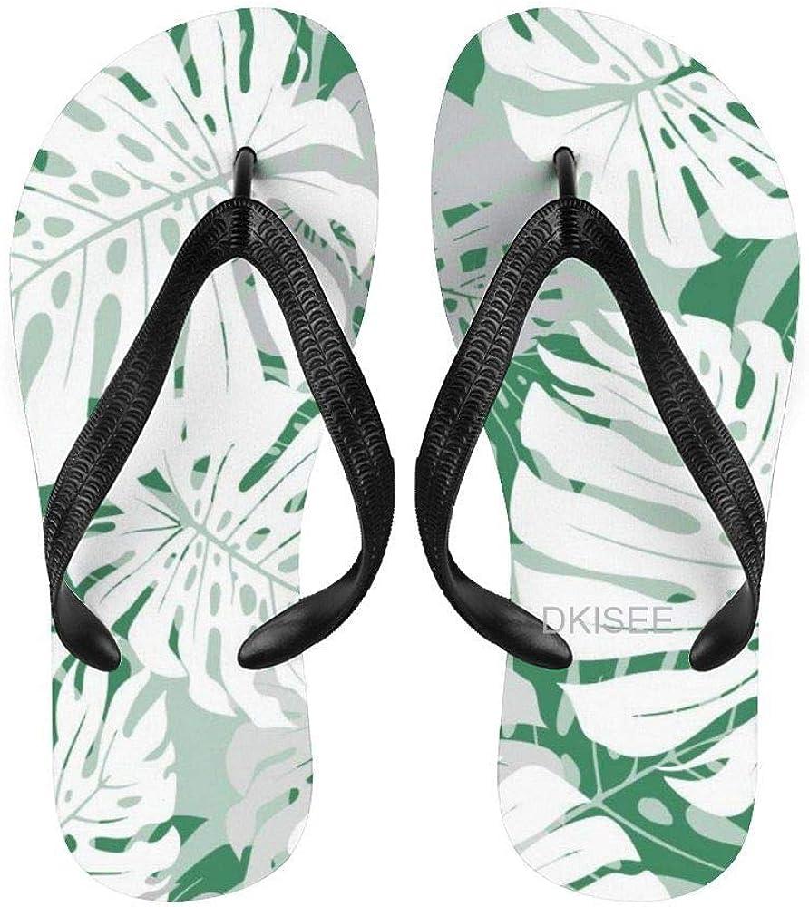 Lplpol Tropical Palm Leaves Sandal Quantity limited Adult Flip Flo ...