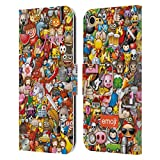 Official emoji Full Pattern Trendy Leather Book Wallet Case Cover Compatible For Apple iPod Touch 5G 5th Gen