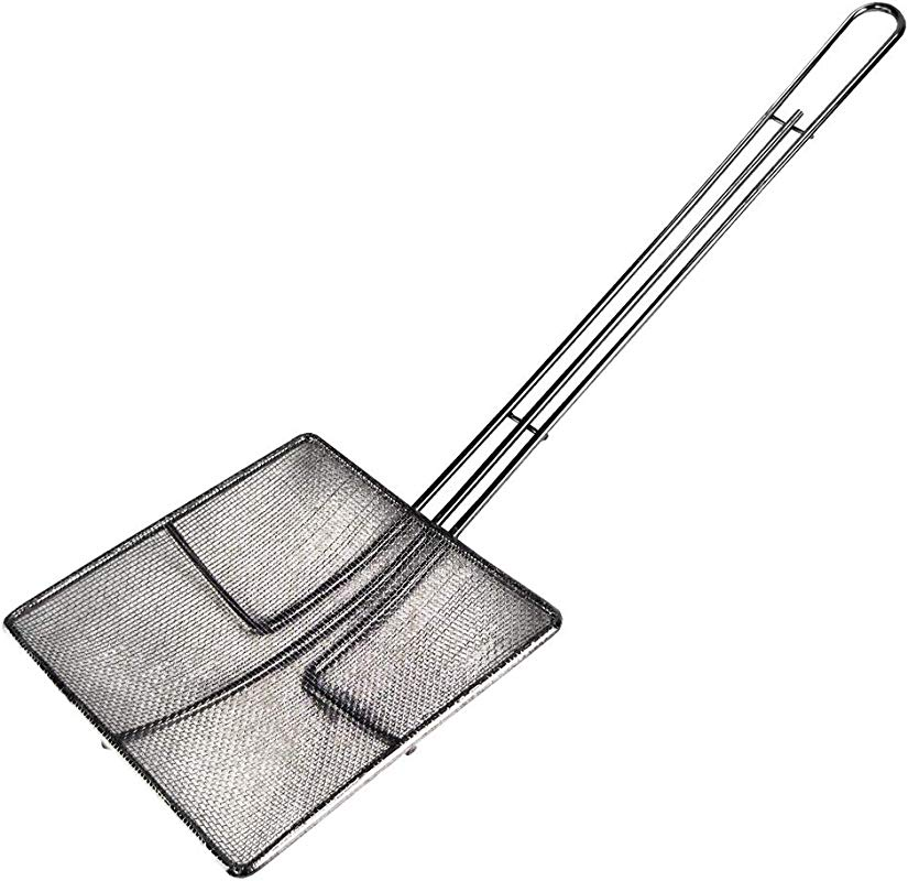 Paragon Fine Mesh Nickel Plated Square Skimmer Nickel Plated Silver