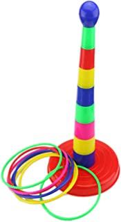 "Ogrmar 18"" Colorful Plastic Sport Ring Toss Game Set for Kids"