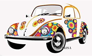BRISA VW Collection - Volkswagen Classic Beetle Car Bug - Large & Stylish Self-Adhesive Volkswagen Wall Tattoo Sticker Dec...