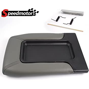 SCITOO Auto Gray Center Console Lid Kit Replacement fit for 2001-2007 GMC Sierra Chevrolet Silverado