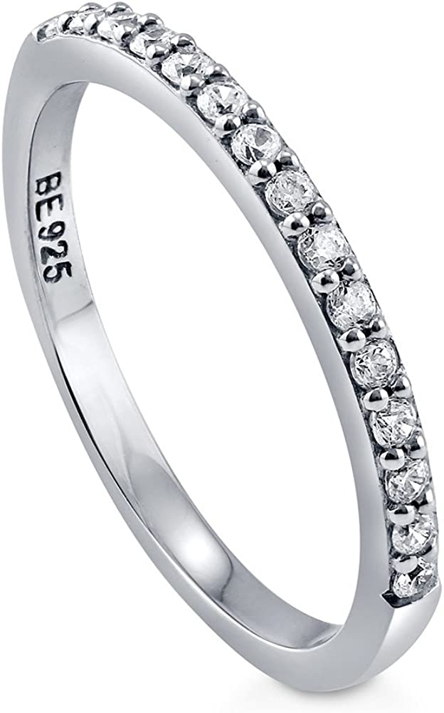 BERRICLE Rhodium Plated Sterling Silver Sale SALE% OFF Cubic Weddin Zirconia CZ OFFicial mail order