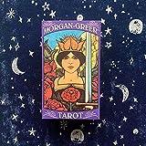 HXGLPSNG 78 Piezas de Cartas en inglés Morgan Greer Tarot Deck, Juego de Mesa de Tarot Hecho en fábrica, Juego de predicción del Destino Futuro para Principiantes