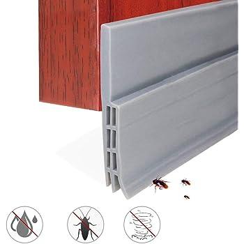EXTSUD Tira de Sellado Burlete Bajo Puerta Tira Autoadhesiva Silicona para Puerta Aislamiento Acústico/a Prueba de Viento/Anti-Bug de Sellado, 5x100cm: Amazon.es: Hogar