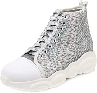 MisaKinsa Women Casual High Top Boots Lace Up High Increase