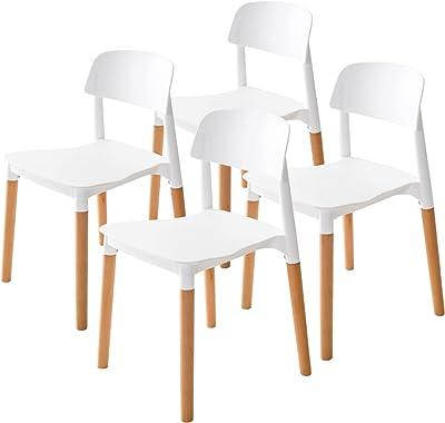 La Bella Replica Belloch Stackable Dining Chair - White X4