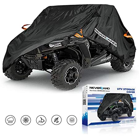 UTV Cover, Waterproof Heavy Denier Oxford Cloth Material for Polaris RZR Yamaha Rhino Can-Am Defender Honda Pioneer Kawasaki Mule Teryx 2-3 Passenger