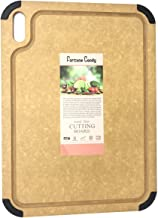 Fortune Candy Wood Fiber Cutting Board, 17.3 x 12.8 inch, Eco-friendly, Knife-friendly, Non-slip Silicone Feet, Juice Groo...