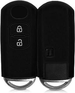 kwmobile Funda de Silicona Compatible con Mazda Llave de Coche Keyless Go de 2 Botones - Carcasa Suave de Silicona - Case Mando de Auto Negro