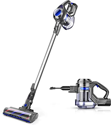 MOOSOO Cordless Vacuum 4 in 1 Powerful Suction Stick Handheld Vacuum Cleaner for Home Hard Floor Carpet Car Pet - XL-618A, Lightweight