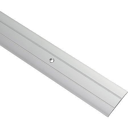 Gedotec Profilé de transition aluminium pour visser - rails pour sols | Longueur 100 cm | Largeur 37 mm | Profilé de sol aluminium argent |compensation perforé | seuil - 1 pièce
