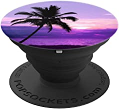 Purple Sunset Beach Palm Trees, Tropical, Ombre Sky Paradise - PopSockets Grip and Stand for Phones and Tablets