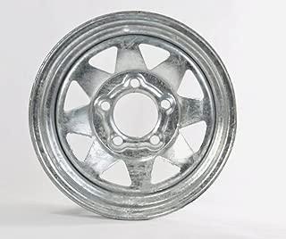 Two Trailer Rims Wheels 13 in. 13X4.5 5 Lug Hole Bolt Galvanized Spoke Design