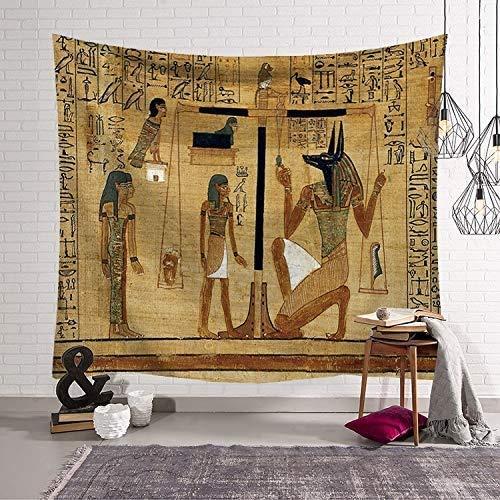 MiaoFan Antiguo Mural Egipcio Impreso Patrón de Tapicería