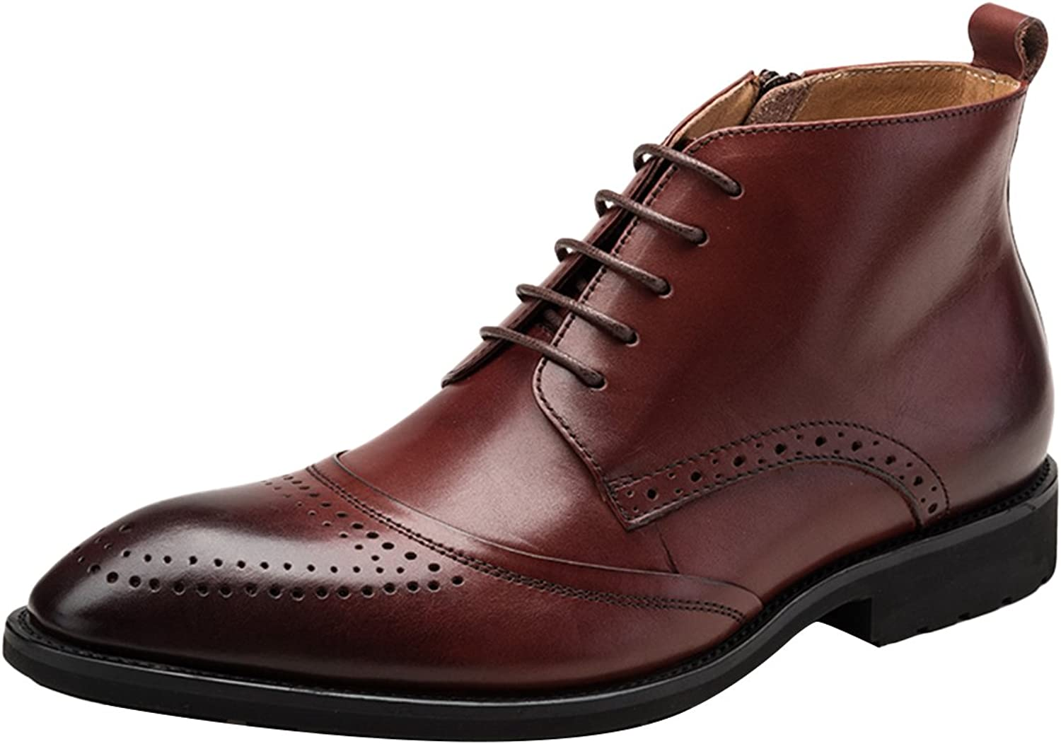 ICEGREY Men's Ankle Boot Derby Cap Toe Oxford Lace up Formal shoes