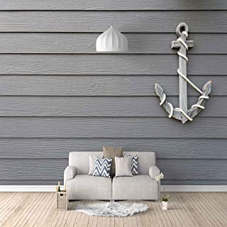 VITICP Adults Kids Wall Stickers Decals Peel and Stick Removable Wallpaper Vintage Gray Ship Anchor for Nursery Bedroom Li...