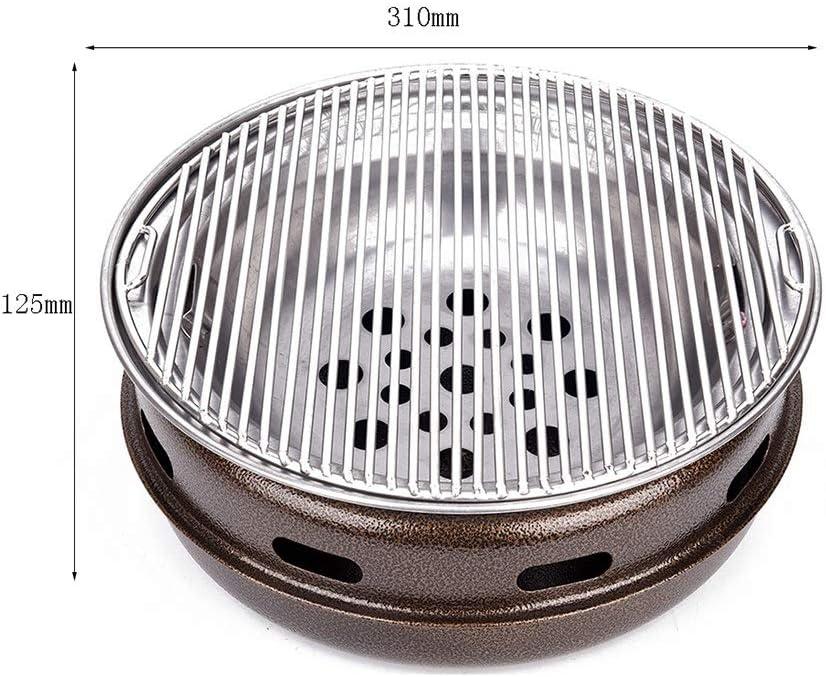 Guoguocy Grills électriques Barbecue, Barbecue, sans fumée de ménage Barbecue au Charbon coréen, Barbecue intérieur et extérieur Grill, 6 Styles Disponibles (Color : A) E