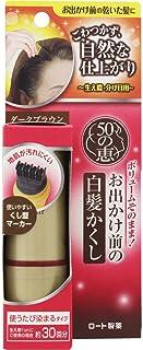 ロート製薬 50の恵エイジングケア お出かけ前の白髪かくし ダークブラウン くし型マーカータイプ 生え際1cmの使用で約30回分 使うたびに徐々に染まるタイプ 10mL