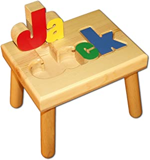 wooden puzzle stool
